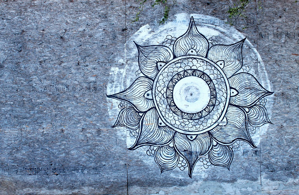 Mandala dipinto su muro