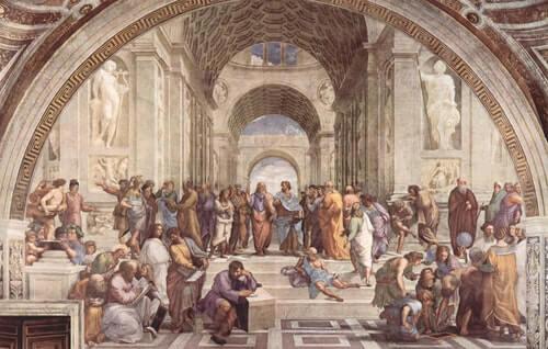Disputa-tra-Platone-e-Aristotele-Alla-Scuola-di-Atene